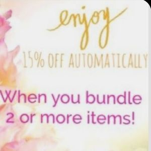 I5% bundle 2 or more  items